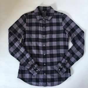 The North Face Flannel Plaid Shirt Roll-Tab Sleeve